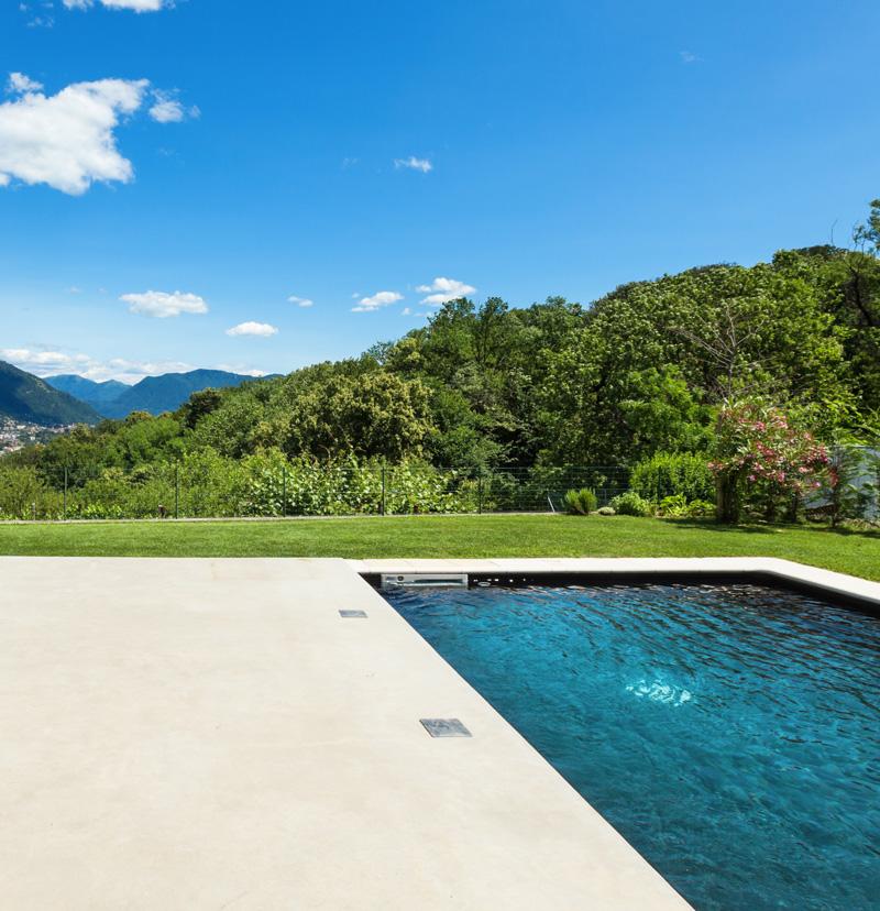 Liquid limestone in pool