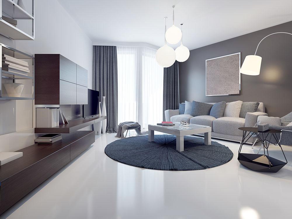 modern home concrete overlay