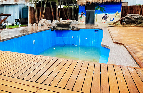 Kalgoorlie decorative concrete pool